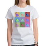 Warhol Style Jack Russell Design on Women's T-Shir