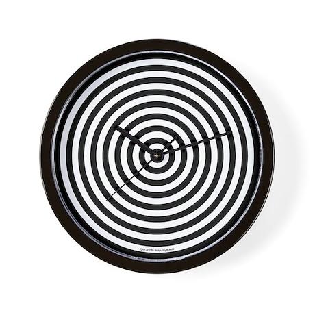 Animated Wall Clock 'Circles' (Black/White)