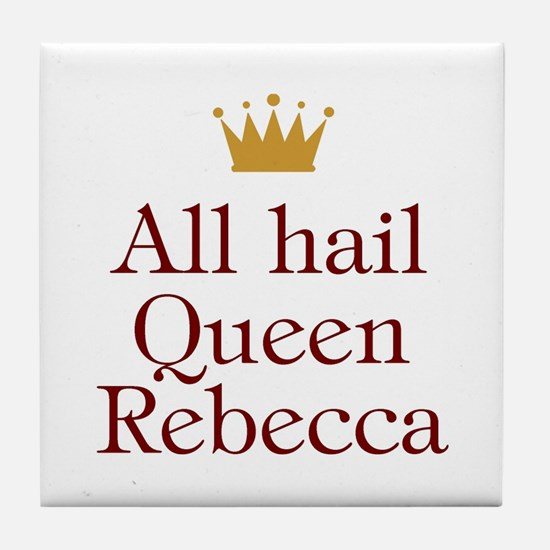 Personalized All Hail Queen Tile Coaster