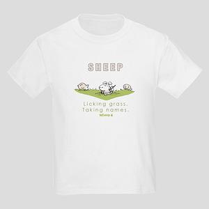 Licking Grass, Taking Names Kids Light T-Shirt