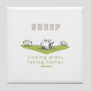 Licking Grass, Taking Names Tile Coaster
