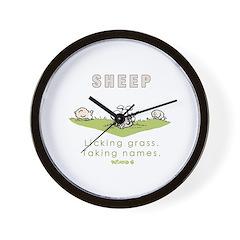 Licking Grass, Taking Names Wall Clock