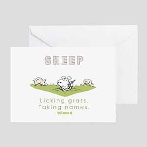 Licking Grass, Taking Names Greeting Card