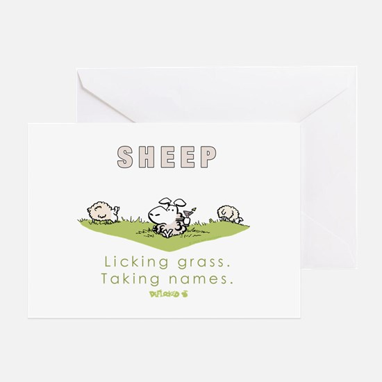 Licking Grass, Taking Names Greeting Card