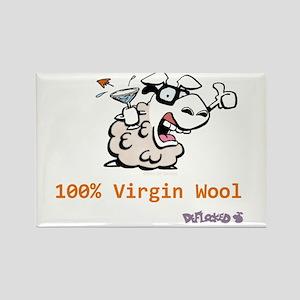 Virgin Wool Rectangle Magnet