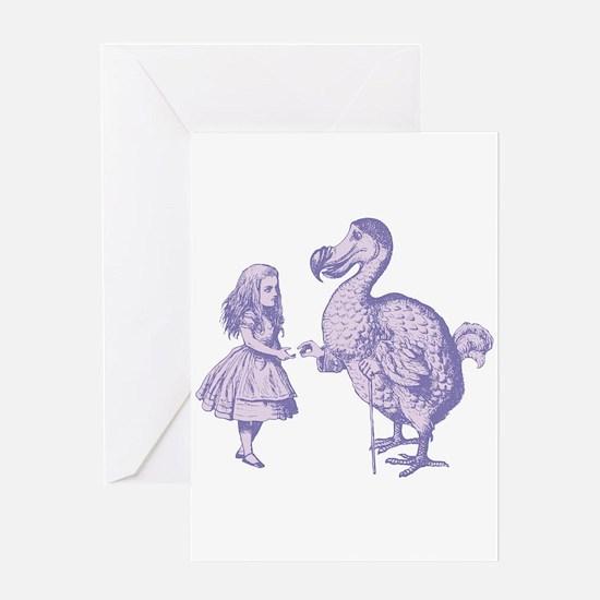 Alice and Dodo Lavender Greeting Card