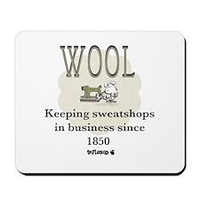 DeFlocked Wool Mousepad