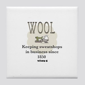 DeFlocked Wool Tile Coaster