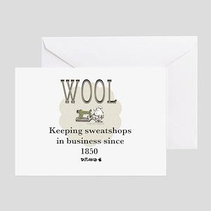 DeFlocked Wool Greeting Card