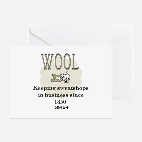 DeFlocked Wool Greeting Card