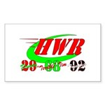 """HWR"" Sticker (Rectangle 50 pk)"