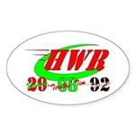 """HWR"" Sticker (Oval 50 pk)"