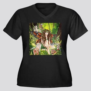 Terra-Daughter of Gaia Faerie Women's Plus Size V-