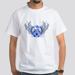 Awareness Tribal Blue White T-Shirt