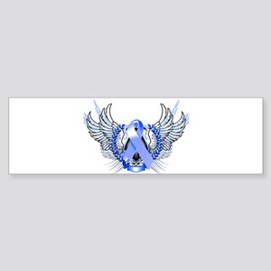 Awareness Tribal Blue Sticker (Bumper)