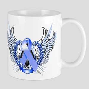Awareness Tribal Blue Mug