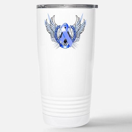 Awareness Tribal Blue Stainless Steel Travel Mug