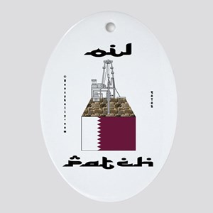 Qatar Oil Patch Ornament (Oval)