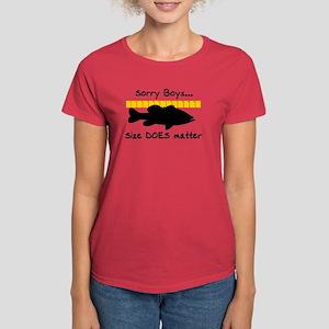 SORRY BOYS... SIZE DOES MATTE Women's Dark T-Shirt