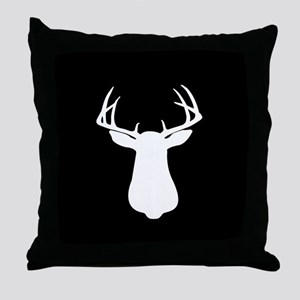 BUCK SILLHOUETTE Throw Pillow