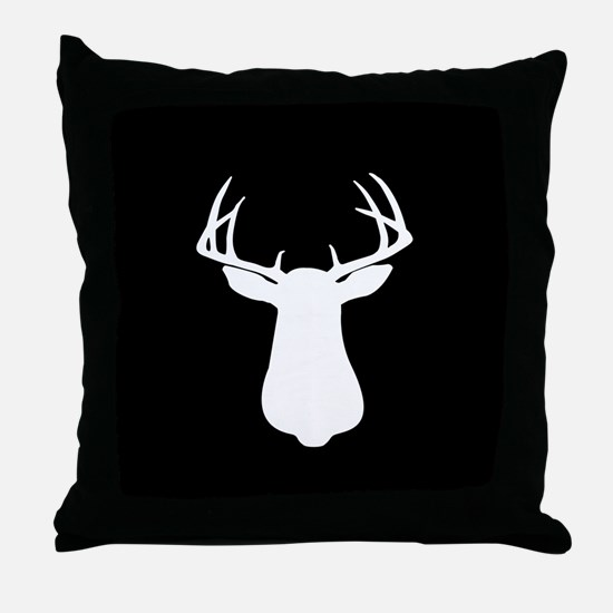 BUCK SILLHOUETTE Throw Pillow