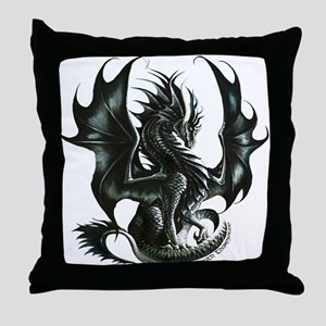 RThompson's Obsidian Dragon Throw Pillow