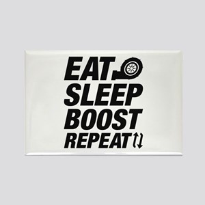 Eat Sleep Boost Repeat Rectangle Magnet