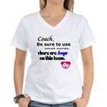 Use Small Words Women's V-Neck T-Shirt