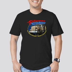 Snowman Trucking Men's Fitted T-Shirt (dark)