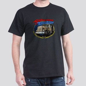 Snowman Trucking Dark T-Shirt