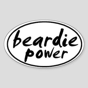Beardie POWER Oval Sticker