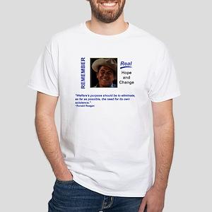 Remember Reagan Real Change White T-Shirt