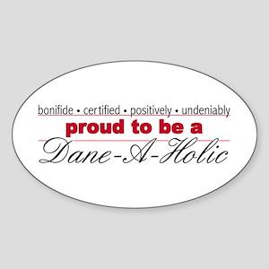 Great Dane-A-Holic Sticker (Oval)