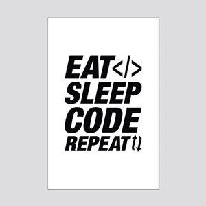 Eat Sleep Code Repeat Mini Poster Print