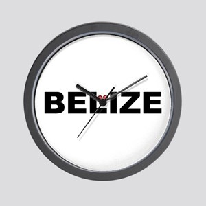 Love Belize Wall Clock