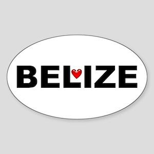 Love Belize Sticker (Oval)