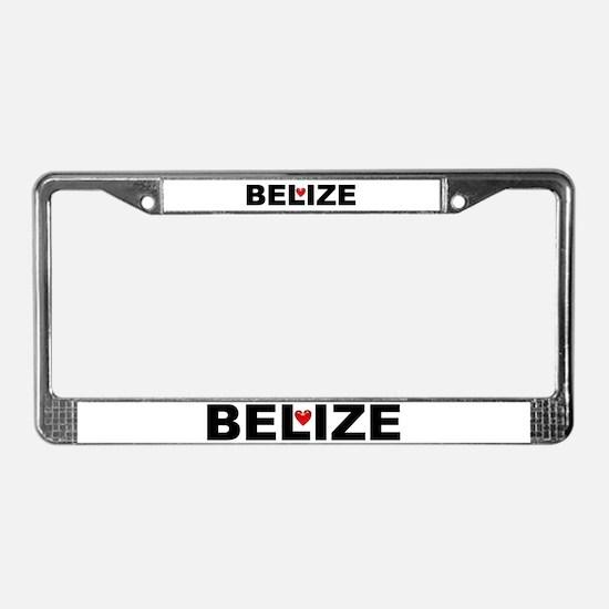 Love Belize License Plate Frame