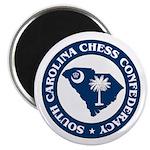 """South Carolina Chess Confederacy 2.25"""" Magnet (10"""