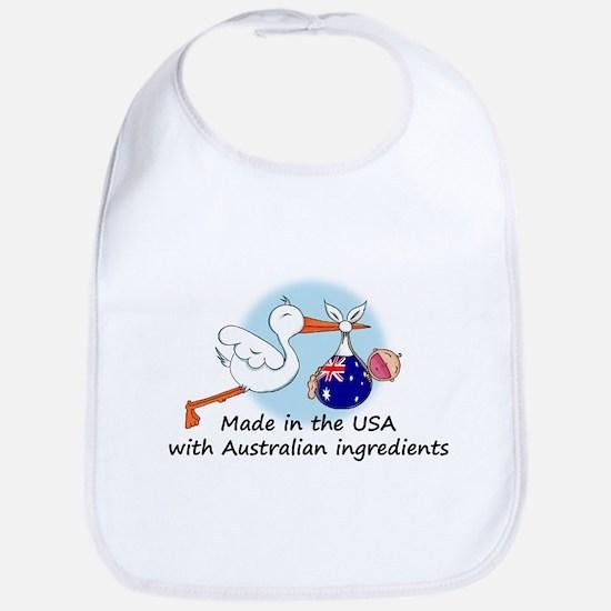 Stork Baby Australia USA Bib