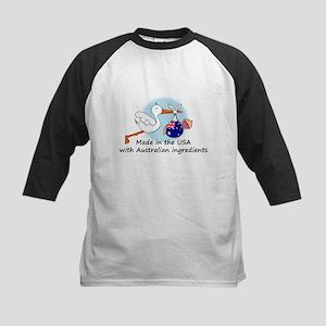 Stork Baby Australia USA Kids Baseball Jersey