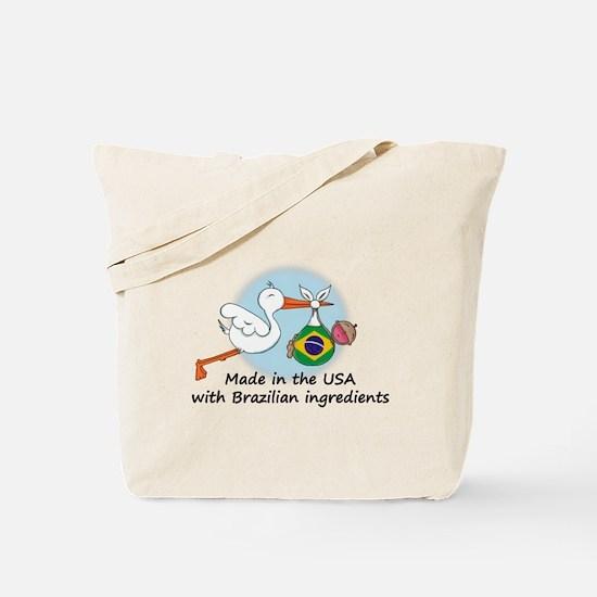 Stork Baby Brazil USA Tote Bag