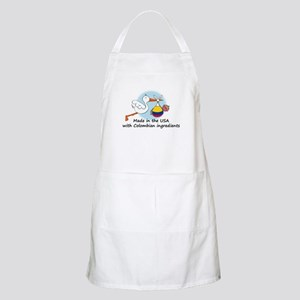 Stork Baby Colombia USA Apron