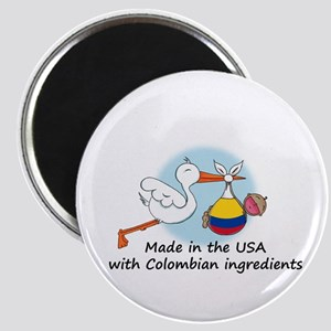 Stork Baby Colombia USA Magnet