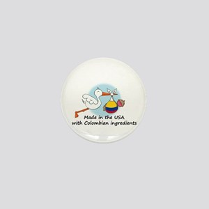 Stork Baby Colombia USA Mini Button