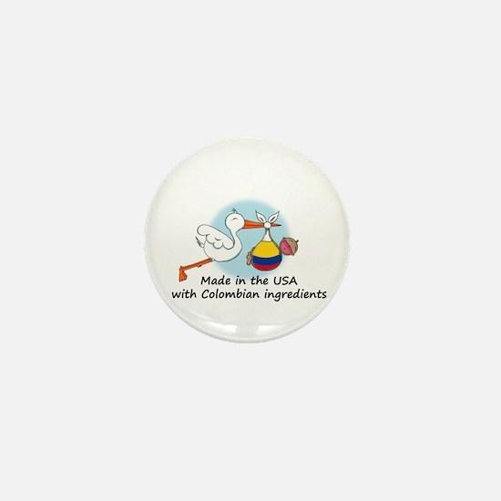 Stork Baby Colombia USA Mini Button