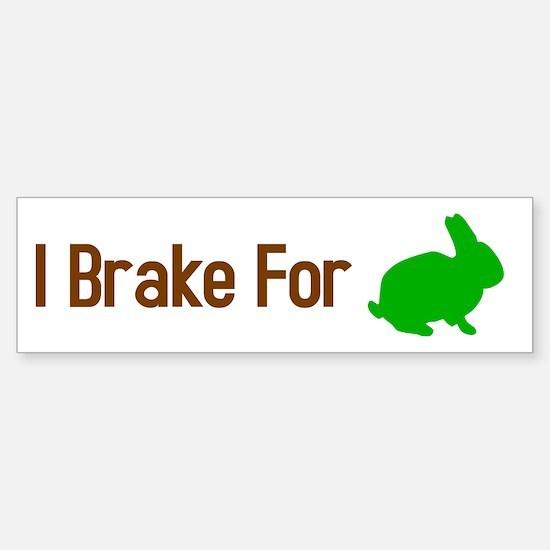 I Brake for Bunnies Sticker (Bumper)
