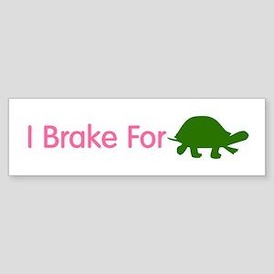 I Brake for Turtles 2 Sticker (Bumper)