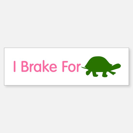 I Brake for Turtles 2 Sticker (Bumper)