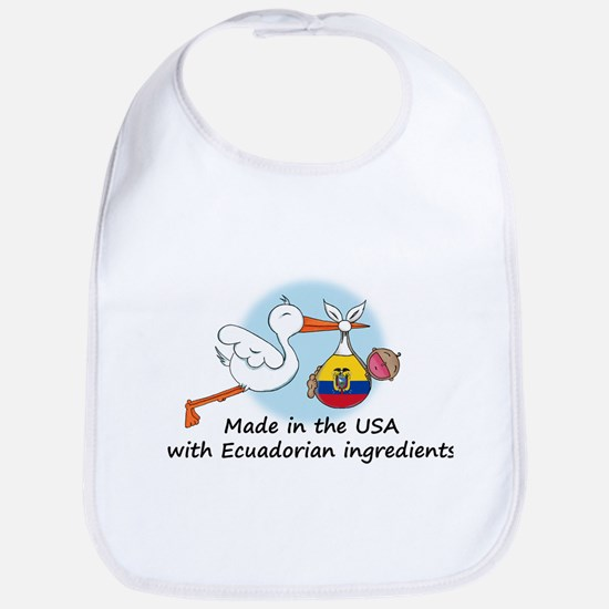 Stork Baby Ecuador USA Bib
