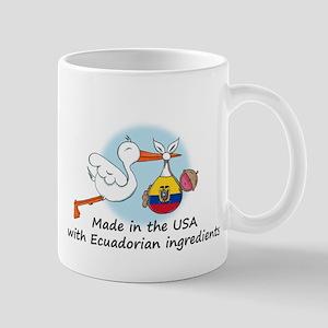 Stork Baby Ecuador USA Mug